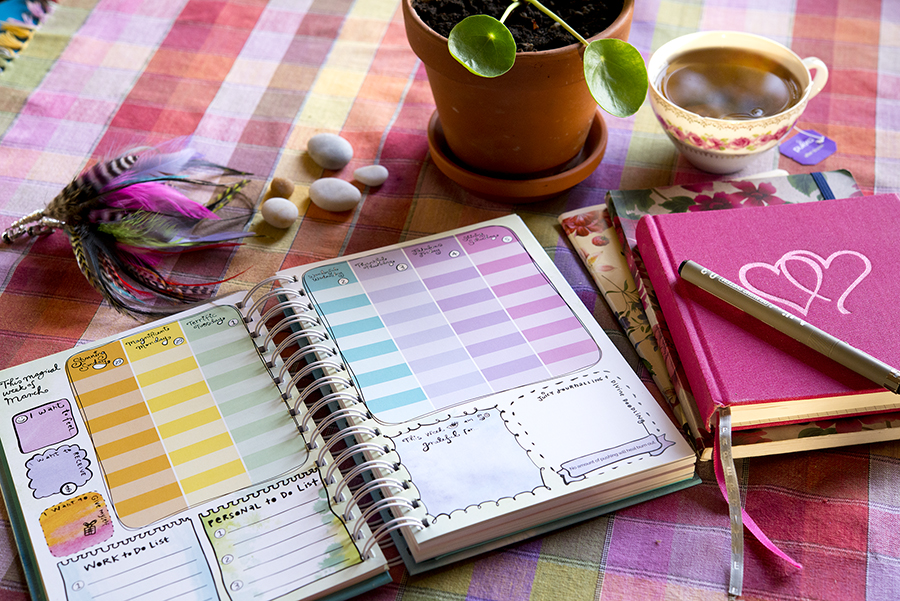 Leonie Dawsons Daily Calendar på mitt köksbord